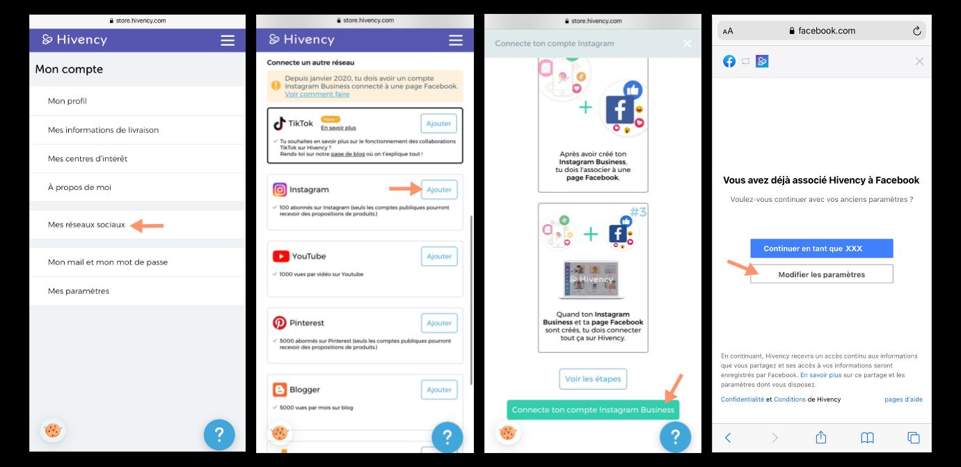 Connecter Instagram à Hivency