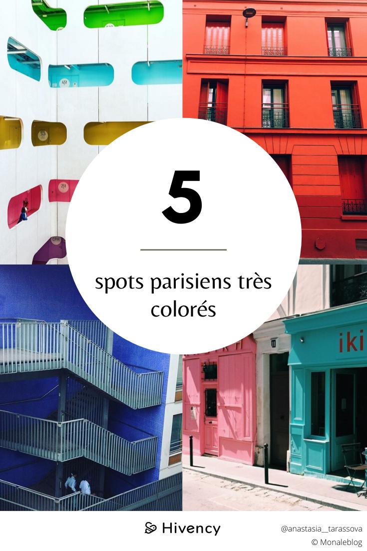 Lieux parisiens colorés